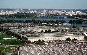 The Pentagon, looking northeast with the Potom...