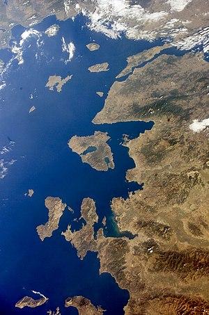 English: Turkey Western, Lesbos and_Dardanelle...