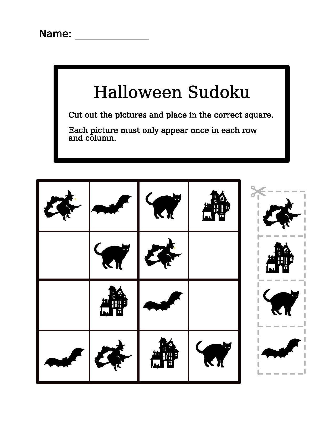 File 4x4 Halloween Easy Sudoku
