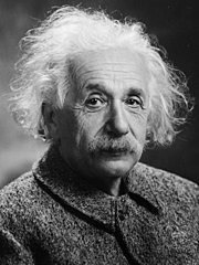 Albert Einstein, foto oleh Oren J. Turner tahun 1947.