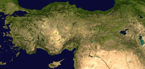 Composite satellite image of Anatolia. Anatoli...