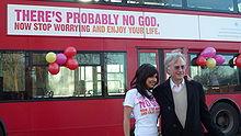 British Humanist Association bus ad