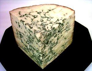 Blue Stilton PDO Cheese, one quarter of a half...