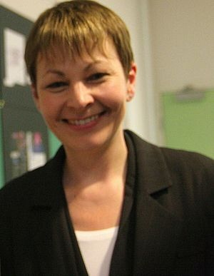 English: Caroline Lucas, Leader of the Green P...