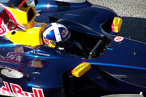David Coulthard testing for Red Bull Racing at...