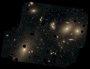 This deep image of the Virgo Cluster obtained ...