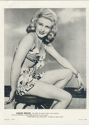 Publicity photo of Ginger Rogers for Argentine...