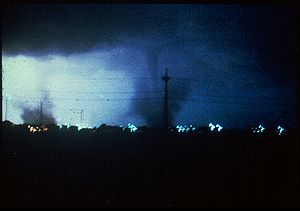 A tornado from the June 3, 1980 Grand Island t...