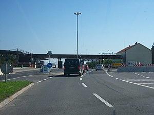 Grenzübergang Klingenbach (Österreich) / Sopro...