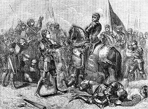 English: Battle of Bosworth Field. Lord Stanle...