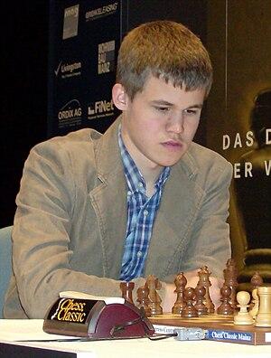 English: Magnus Carlsen at the 2008 Chess Classics
