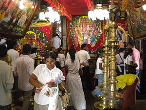 Interior of Kataragama temple