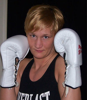 Olivia Luczak, polish-german female amateur boxer.