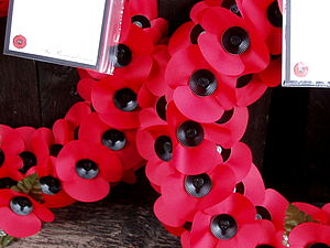 In the lych gate, Corley. Remembrance Sunday.