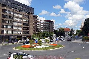 Rotonda en Begoña, Bilbao.
