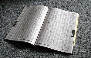 a phone / telephone book / directory Polski: k...