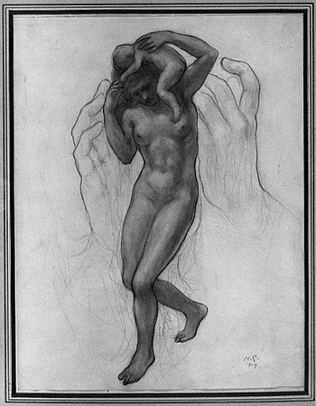 Brooklyn Museum - Hands Female Nude Baby - Kah...