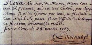 English: Cournut_handwriting_and_signature_25_...