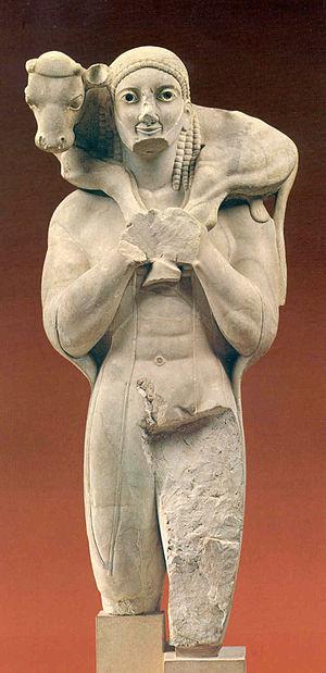 Grecia Arcaica kouros 7 Moscoforo jpg