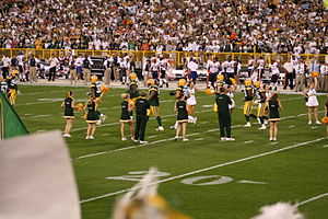 The Green Bay Packers cheerleaders seen cheeri...