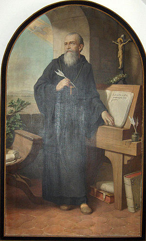 St. Benedict of Nursia writing the Benedictine, history of the cat