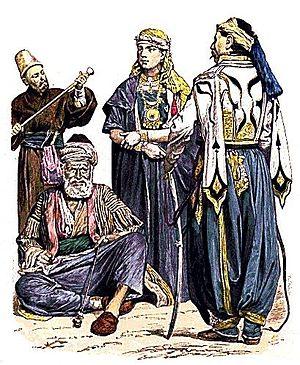 Late nineteenth century Syrian dress. Dervish,...