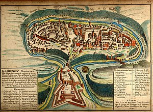 An 1691 French map of the city of Kamianets-Po...