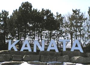 """Photograph of the """"KANATA"""" sign at t..."""