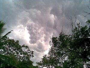 English: Rain Clouds in Kerala, India.