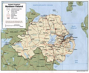 Map of Northern Ireland.