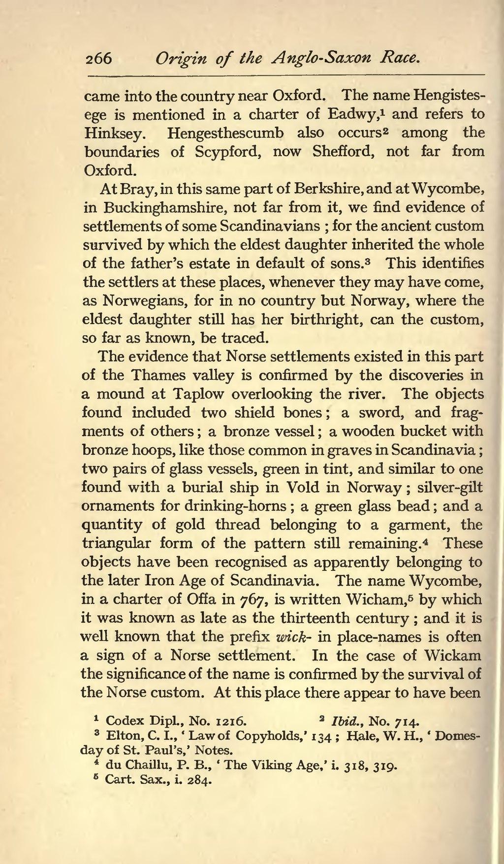 Page Origin Of The Anglo Saxon Racevu 280