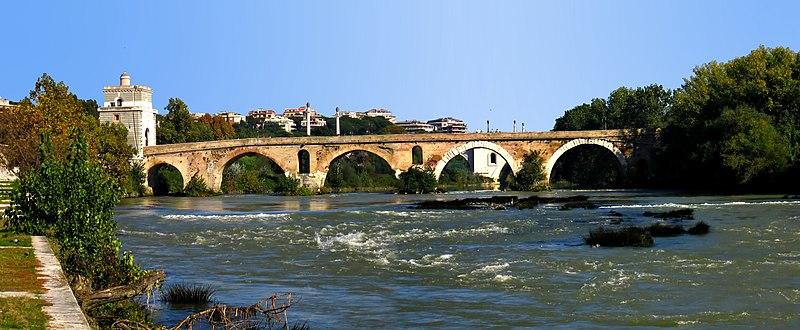 File:Ponte Milvio-side view-antmoose.jpg