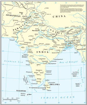 UN map of South Asia, cropped to remove UN map...
