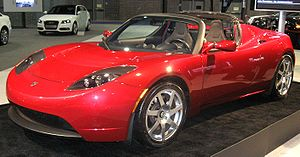 Tesla Roadster photographed at the 2009 Washin...