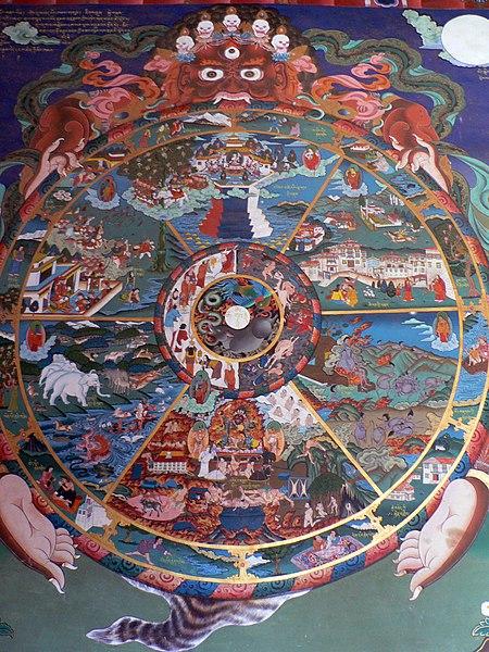File:The wheel of life, Trongsa dzong.jpg