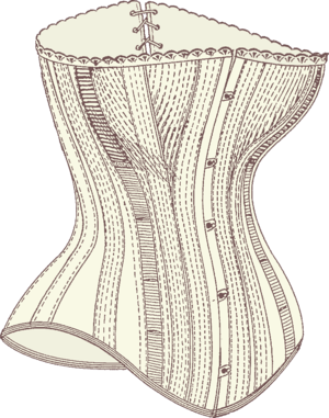 front of corset by busk (Photo credit: Wikipedia)