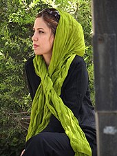 (countable) a traditional headscarf worn by muslim women, covering the hair and. Hijab Wikipedia