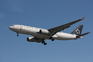 An Air China Airbus A330-243, in Star Alliance...