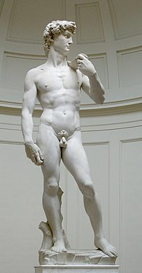 Michelangelo's David, source: Wikimedia Commons.