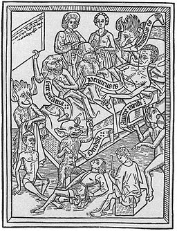 Demoner visar den döendes synder