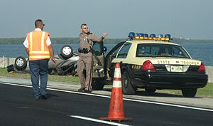 English: State Trooper of the Florida Highway ...