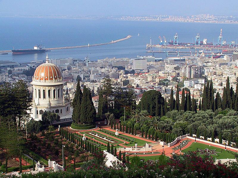 File:Haifa Shrine and Port.jpg