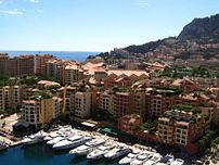 Monaco fontvieille view from Rock of Monaco