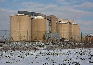 English: Old sugar beet factory A landmark on ...