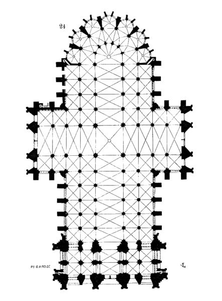plan katedry w Kolonii
