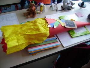 ausgepackte Schultüte