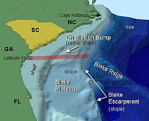 Diagram of the continental shelf and slope of ...