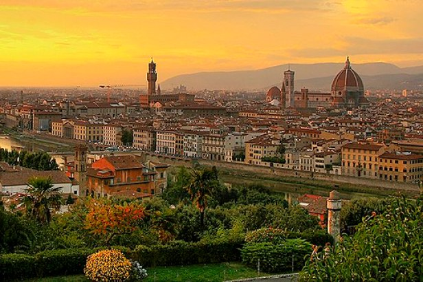 Sunset over florence 1