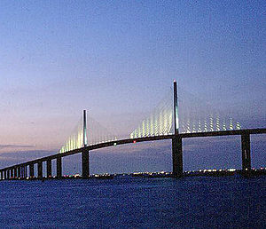 English: Sunshine Skyway. Tampa Bay, Florida. ...