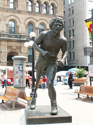 Leo Mol's statue of Terry Fox in Ottawa